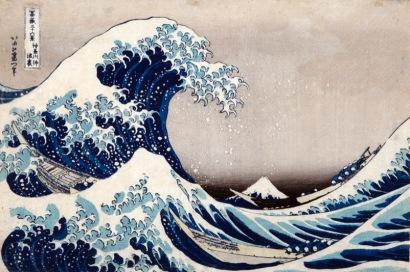 Katsushika Hokusai La [grande] onda presso la costa di Kanagawa, dalla serie Trentasei vedute del monte Fuji, 1830-1832 circa Silografia policroma, (…) Kawasaki Isago no Sato Museum
