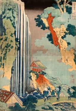 Katsushika Hokusai La cascata di Onō lungo la strada Kiso, 1830-1832 circa Silografia policroma, (…) Kawasaki Isago no Sato Museum