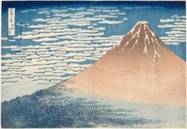 Katsushika Hokusai Giornata limpida col vento del sud (o Fuji Rosso), dalla serie Trentasei vedute del monte Fuji, 1830-1832 circa Silografia policroma, (…) Kawasaki Isago no Sato Museum