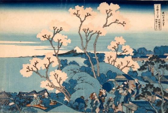 Katsushika Hokusai Il Fuji da Gotenyama presso Shinagawa sul Tōkaidō, dalla serie Trentasei vedute del monte Fuji, 1830-1832 circa Silografia policroma, (…) Kawasaki Isago no Sato Museum