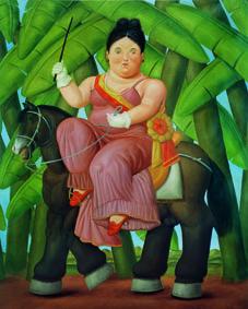 Fernando Botero Il presidente, Lafirst lady (dittico), 1989 Olio su tela; 203x165 cm
