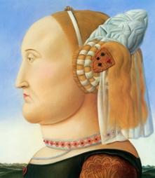 Fernando Botero Piero della Francesca (dittico), 1998 Olio su tela; 204x177 cm