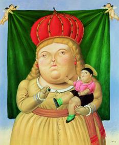 Fernando Botero Nostra Signora di Colombia, 1992 Olio su tela; 230x192 cm