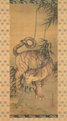 Katsushika Hokusai Tigre tra I bambù, 1839 Dipinto su rotolo, 73.0×31.5 cm Sumisho Art Gallery