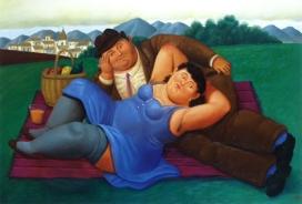 Fernando Botero Picnic, 2001 Olio su tela; 113x165 cm