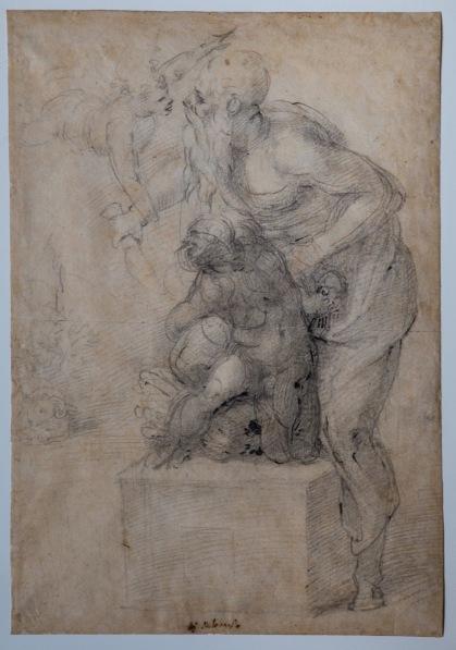 """Michelangelo, """"Il sacrificio di Isacco"""" (recto)"""
