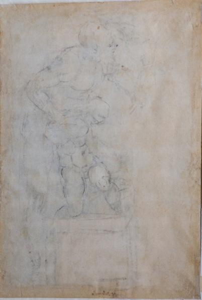 """Michelangelo, """"Il sacrificio di Isacco"""" (verso)"""