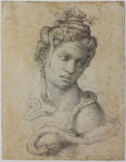 """Michelangelo, """"Cleopatra"""" (recto)"""
