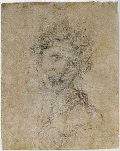 "Michelangelo, ""Cleopatra"" (verso)"