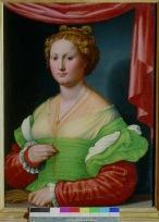 Innocenzo Francucci da Imola (Imola c. 1490 – Bologna c. 1550) Ritratto di gentildonna (Vannozza Cattanei?) olio su tela, cm 78 x 58 Roma, Galleria Borghese, inv. 416