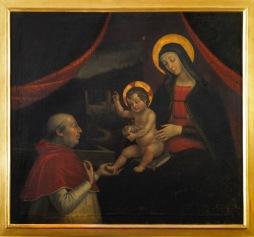 Pietro Fachetti (Mantova 1535 – Roma 1613) Investitura divina di Alessandro VI (copia dal dipinto murario di Pintoricchio), 1612 olio su tela, cm 115.5 x 124 Collezione privata