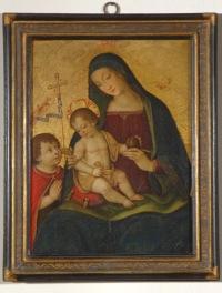 Bernardino di Betto, detto Pintoricchio (Perugia c. 1454 – Siena 1513) Madonna della Melagrana, c. 1508-1509 tempera su tavola, cm 54.5 x 41 Siena, Pinacoteca Nazionale, inv. 387