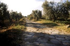 Selciato Via Cassia nei pressi di Montefiascone (VT)