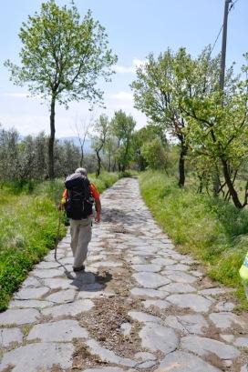 Un tratto laziale della Via Francigena (foto di Lise Foss)