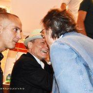Massimo Ranieri con (di spalle) Gianni Togni
