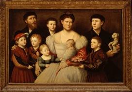 Bernardino Licinio (Venezia, 1485/89 – post 1549) Ritratto della famiglia di Arrigo Licinio 1535-40 Olio su tela, cm 118 x 165 Roma, Galleria Borghese
