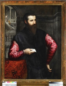 Paris Bordon (Treviso, 1500 – Venezia, 1571) Ritratto d'uomo con lettera Olio su tela, cm 110 x 83 1548-1552 c. Genova, Galleria di Palazzo Rosso