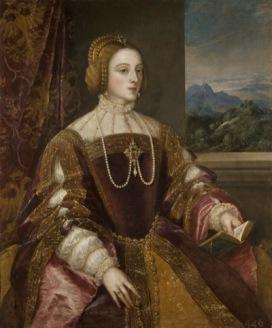 Tiziano Vecellio (Pieve di Cadore, c. 1485-90 – Venezia, 1576) L'Imperatrice Isabella di Portogallo Olio su tela, cm 117 x 98 1548 Madrid, Museo Nacional del Prado