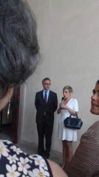 Il curatore della mostra Dal Pozzolo con e Edith Gabrielli, direttrice del polo museale del Lazio