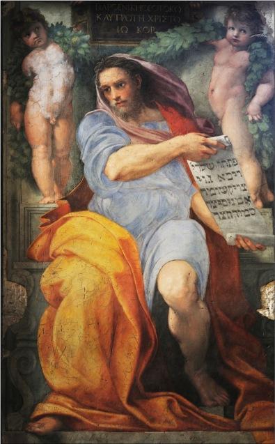Profeta Isaia, Raffaello Sanzio Quadro Tattile HandSight.net, 2016, resina, 41 x 33 cm Affresco // 250 x 155 cm, 1513-1514 circa// Roma, Chiesa di Sant'Agostino