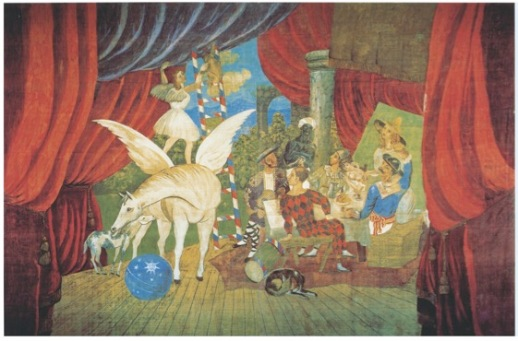 "Pablo Picasso Sipario per il balletto ""Parade"", 1917 Tempera su tela,1050 x 1640 cm Musée National d'Art Moderne Centre Georges Pompidou, Parigi © Succession Picasso, by SIAE 2017"