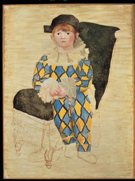Pablo Picasso Paul en Arlequin [Paolo vestito da Arlecchino], 1924 Olio su tela,130 x 97,5 cm Musée national Picasso-Paris, Parigi, Dation Pablo Picasso © Succession Picasso, by SIAE 2017