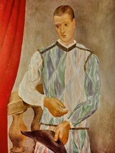 Pablo Picasso Arlequin (Léonide Massine) [Arlecchino (Léonide Massine)], 1917 Olio su tela,117 x 89,5 cm Barcellona, Museu Picasso, Given by the Barcelona City Council, 1963 Photo: Archivi Alinari, Firenze © Succession Picasso, by SIAE 2017
