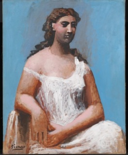 Pablo Picasso Femme assise en chemise [Donna seduta in camicia], 1923 Olio su tela, 92,1 x 73 cm Tate, Bequeathed by C. Frank Stoop 1933 © Succession Picasso, by SIAE 2017