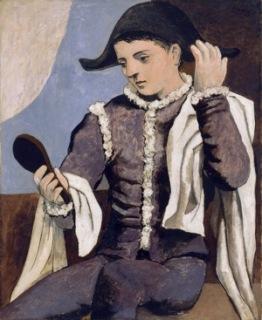 Pablo Picasso Arlequin au miroir [Arlecchino con specchio], 1923 Olio su tela,100 x 81 cm Madrid, Museo Thyssen-Bornemisza © Succession Picasso, by SIAE 2017