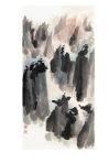 The-Timeless-Dance-mao-Jianhua-vittoriano-roma-LA_CHIAMATA_DEL_CUORE_1_inchiostro_su_carta_fatta_a_mano_69x137cm