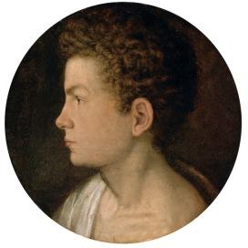 Giovanni Paolo Lomazzo Autoritratto, sesto decennio del XVI se- colo Olio su tavola di quercia, d 39 cm Vienna, KunsthistorischesMuseum, Gemäldegalerie