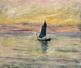 Claude Monet (1840-1926) Barca a vela. Effetto sera, 1885Olio su tela, 54x65 cm Parigi, Musée Marmottan Monet © Musée Marmottan Monet, paris c Bridgeman-Giraudon / presse