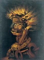 Giuseppe Arcimboldo Il Fuoco, Post 1566 Olio su tela, 74x55,5 cm Svizzera, Collezione privata