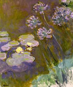 Claude Monet (1840-1926) Ninfee e agapanti, 1914-1917 Olio su tela, 140x120 cm Parigi, Musée Marmottan Monet © Musée Marmottan Monet, paris c Bridgeman-Giraudon / presse