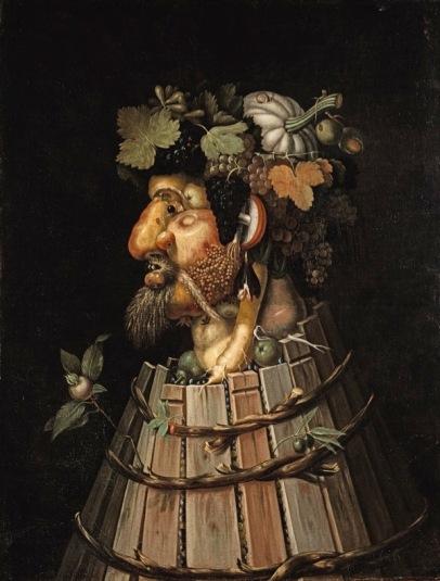 Giuseppe Arcimboldo L'Autunno, 1572 Olio su tela, 91,4x70,2 cm Denver, Denver Art Museum, lascito di John Hardy Jones
