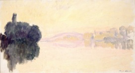 Claude Monet (1840-1926) La Senna a Port-Villez. Effetto rosa, 1894 Olio su tela, oppure 52,5x92,4 cm Parigi, Musée Marmottan Monet © Musée Marmottan Monet, paris c Bridgeman-Giraudon / presse