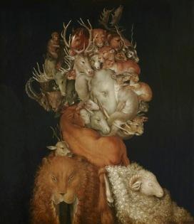 Giuseppe Arcimboldo La Terra, 1566 Olio su tavola, 70,2x48,7 cm Vienna, Lichtenstein - The PrincelyCol- lections