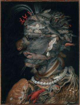 Giuseppe Arcimboldo L'Acqua, 1566 Olio su legno di ontano, 66,5x50,5 cm Vienna, KunsthistorischesMuseum, Gemäldegalerie