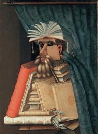 Giuseppe Arcimboldo (copia da) Il Bibliotecario Olio su tela, 97x71 cm Svezia, Castello di Skokloster