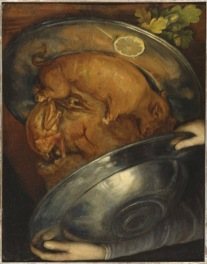 Giuseppe Arcimboldo Il Cuoco / Piatto di arrosto Olio su tavola, 52,5x41 cm Stoccolma, Nationalmuseum