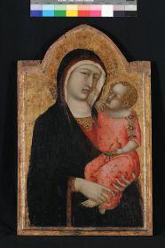Pietro Lorenzetti, Madonna col Bambino, 1330-1335 ca. Tempera e oro su tavola, cm 70,5 x 44,7 x 3,9 Assisi, Museo del Tesoro della Basilica di San Francesco, collezione Mason Perkins