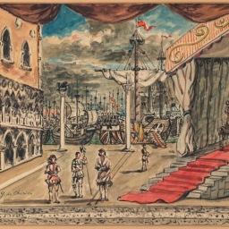 """Giorgio de Chirico, """"Otello"""", sipario, 1963-64"""