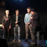 Eleonora Tosto, Nico Maraja, Carlo Valente e Daniele Sidonio sul palco del Teatro Porta Portese
