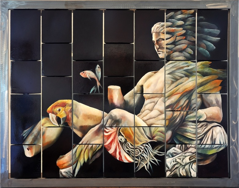 camilla-ancilotto-Dionysus-2016_oil-on-three-dimensional-wooden-solids_mis.86x117cm