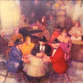 Carlo-Roselli---Partita-a-carte---acrilico-su-tela-cm-50x50