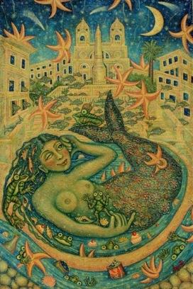 Cynthia-Segato---Cena-al-bacio---olio-su-tavola-cm-150x100