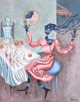 Enrico-Benaglia---La-notte-e-pronta-per--uscire---serigrafia-su-tela-cm-80x58