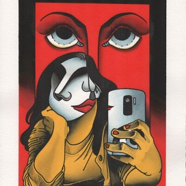 phone-face-collab--acrylic-on-paper-23x31-450eurosNocturnal-Emissions-parione9-roma