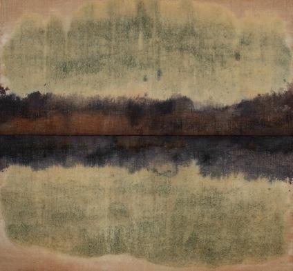 Senza titolo, tecnica mista su tela di juta e muffa, cm 190X180, 2012