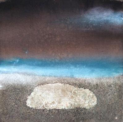 Senza titolo, tecnica mista su tela di juta e muffa, cm 200x200, 2014